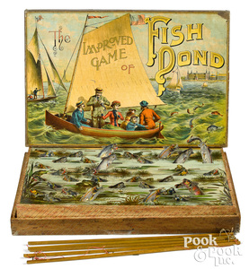 McLoughlin Bros. Improved Game of Fish Pond