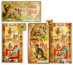 Two McLoughlin Bros. cat and mouse games
