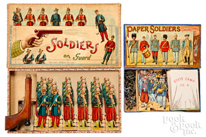 Two McLoughlin soldier games, ca. 1890