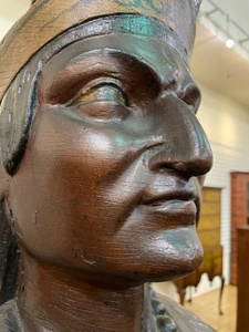 Important decorated cigar store Indian