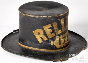 Philadelphia painted fireman's parade hat