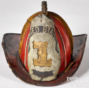 New York painted fire hat by Wilson