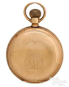 Waltham Vanguard 14K gold pocket watch, #7001614.