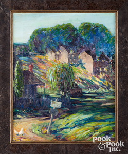Maude Drein Bryant oil on canvas country landscape
