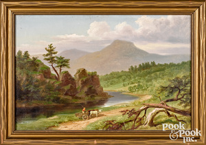 Russell Smith oil on canvas Vermont landscape