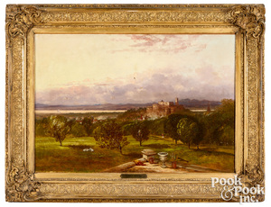 George Inness oil on canvas landscape