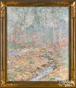 Harry G. Berman oil on canvas landscape