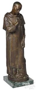 Fr. Thomas McGlynn patinated bronze