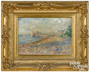 Carroll Sargent Tyson oil on canvas coastal scene