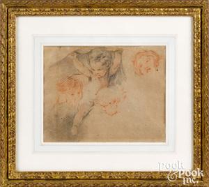 François Boucher sketch of children