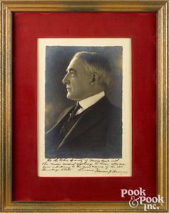 Warren Harding signed photograph