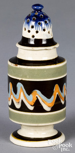 Mocha pepperpot, with earthworm style decoration