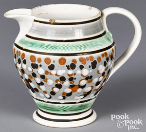 Mocha pitcher, with polka dot decoration