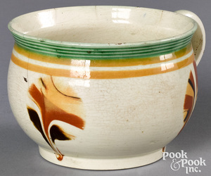 Mocha mug, with fan decoration