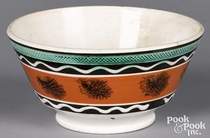 Mocha bowl, with seaweed decoration