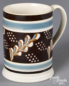 Mocha mug, with twig decoration