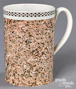 Mocha mug, with agate glaze