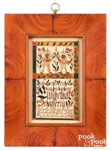 Christian Alsdorf fraktur bookplate