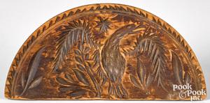 Incised pine half round eagle butterprint