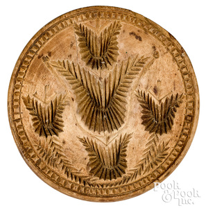Carved tulip butterprint, 19th c.