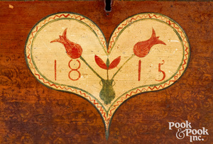 Pennsylvania painted pine dower chest, dated 1815