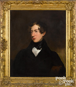 English oil on canvas portrait of James Bourdillon