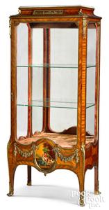 French ormolu mounted kingwood vitrine, ca. 1900