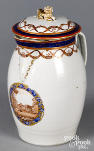 Chinese export porcelain cider pitcher, ca. 1800