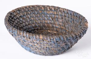 Pennsylvania rye straw basket, 19th c.