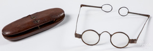 Early spectacles with maple case