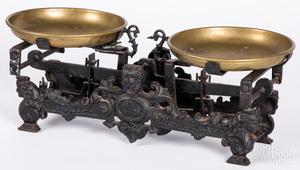 Victorian cast iron scale