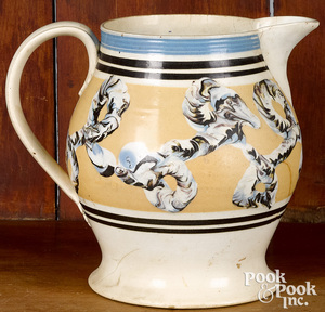 Mocha pitcher, with earthworm decoration