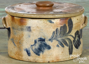 Pennsylvania stoneware cake crock, 19th c.