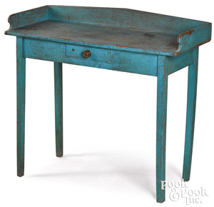 Painted pine dressing table, 19th c.