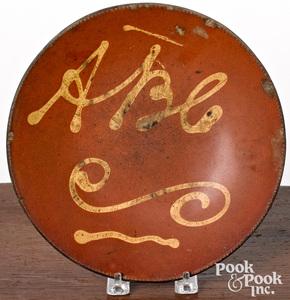 Connecticut redware plate, 19th c.