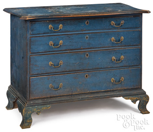New England Chippendale painted chest of drawers