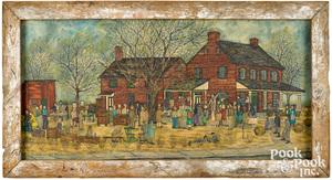 Dolores Hackenberger oil on canvas Public Sale