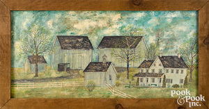 Dolores Hackenberger oil of Amish Farmstead