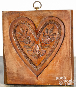 Carved maple cakeboard, 19th c.