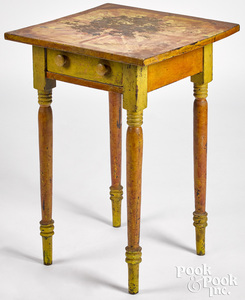 Pennsylvania painted poplar one-drawer stand