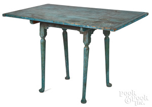 New England Queen Anne painted pine tavern table l