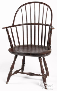 New England sackback Windsor chair, ca. 1790