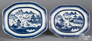 Two Chinese export porcelain Canton platters