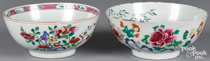 Two Chinese export famille rose porcelain bowls