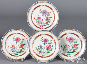 Four Chinese export porcelain plates, ca. 1800