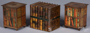 Three Huntley & Palmer book-form tin biscuit boxes