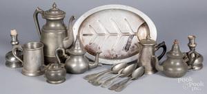 Pewter tablewares, 19th/20th c.
