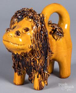 Lester Breininger redware lion