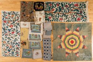 Large group of miscellaneous fabrics, etc.