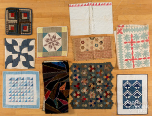 Group of doll and baby quilts, 19th and 20th c.